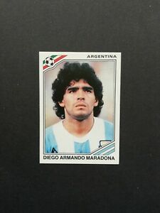 Panini World Cup México 86 Maradona Argentina Number 84  Whith Original Back New