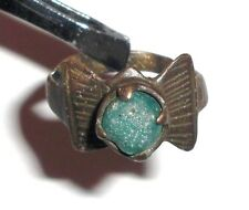 Medieval Bronze Ring with Stone. Jewelry, Artifact