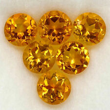 Un paio di 4mm Round-FACET NATURALE BRASILIANO BRANDY citrino pietre preziose £ 1 NR!