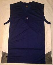 Euc Jordan Performance Apparel Basketball Jersey Blue/Gray/White Mens Xxl