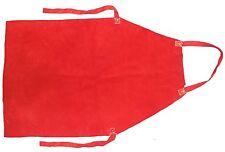 "Red Leather, Welder / Blacksmith Apron,Kevlar Stitched  24"" x 48"""