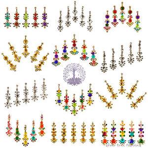1 pack of RAINBOW METALICS Indian DIAMANTE Bridal FESTIVAL Crystal TIKKA Bindi