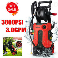3800PSI 3GPM Electric Pressure Washers High Power Cold Water Cleaner Portable!