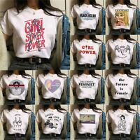 Women Ladies Short Sleeve T Shirt Tops Blouse Heart Printed Casual Tee Fashion