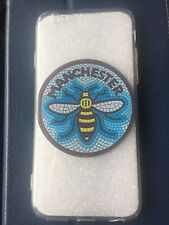 IPhone 5/5s/SE Gel Phone Case with blue Manchester Bee Mosaic design