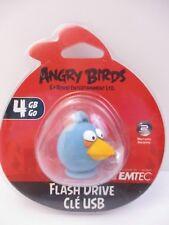 "EMTEC - 4 GB USB 2.0 FLASH DRIVE - ANGRY BIRDS ""BLUE BIRD"" - NEW UNOPENED"