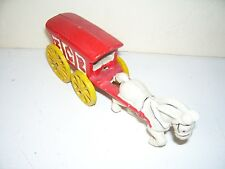 Vintage Metal Ice Horse and Pull Wagon Toy Good Condition