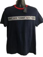 TOMMY HILFIGER DENIM MEN'S TEE SHIRT LOGO NAVY BLUE NEW