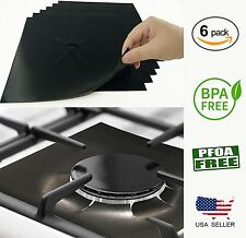Stove Top Protector Liners Reusable Gas Cook Burner Cover for Cleaning - 6 Pack