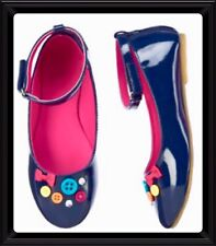NWT 12 Gymboree FASHIONABLE FOX faux PATENT LEATHER Buttons Bows MARYJANE SHOES