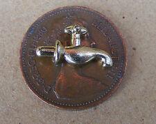 1:12 Doll House Miniature Single Brass Metal Tap Garden Pub Bar Barrel Accessory