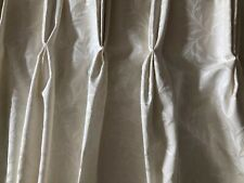 "Dunelm Cream Jacquard Pinch Pleat Fully Lined Curtains 54"" drop"