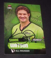 Shane Watson (Australia) signed Sydney Thunder BBL Card + COA