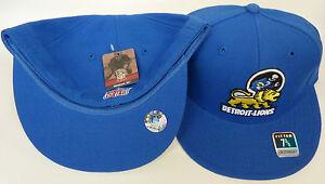 NFL Detroit Lions Reebok Vintage Gridiron Classic Fitted Cap Hat Flat Brim NEW!