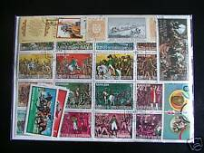 100 TIMBRES CHEVAUX : 100 TIMBRES TOUS DIFFÉRENTS / 100 HORSES STAMPS