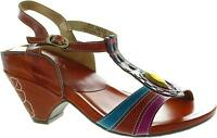 Laura Vita Palanque Women's High Heel Leather Ankle Strap Open Toe Sandals New
