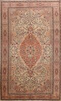 Floral Semi Antique Anatolian Turkish Area Rug Vegetable Dye Hand-knotted 6'x10'