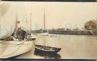 "1920 photo Sail Yacht Capella Ramsey Harbour Isle of Man Whitweek 5.5x3.5"""