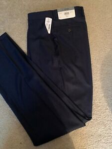 Men's Todd Snyder Navy Wool Flat Front Trouser Size 34 x 36(unhemmed)