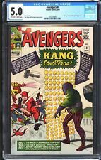 The Avengers # 8 CGC 5.0 OW/White Pages 1st APP Kang the Conqueror Marvel 1964