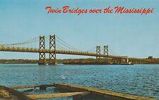 "*Mississippi Postcard-""The Twin (Suspension) Bridge Over Mississippi"" (U1-7)"
