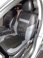 i - TO FIT AN ISUZU TROOPER CAR, SEAT COVERS, LEATHERETTE, BLACK/grey