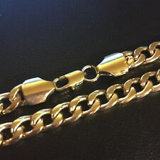 "gcn UNISEX 20""/ 50cm x 7mm 18ct 18k gold filled curb chain necklace"