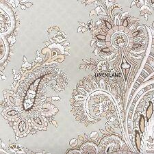 RALPH LAUREN CLASSIC Paisley QUEEN DUVET COVER SET NWT COTTON Floral Green White