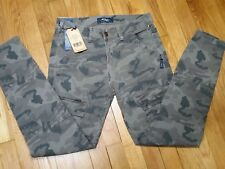 Silver Skinny Cargo Camo Jeans Size 29 L 29 Mid Rise L27151STW047 New With Tags