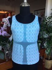 Nike Tennis Fitness Yoga Dri Fit Top Size Small 4-6 Baby Blue with built in bra