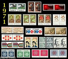 SUPERFLEAS 1971 Complete Year Set / Canada MNH postage stamps - pairs