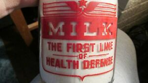 Ione, Calif. Miller's Dairy PATROITIC Milk Bottle TRPQ CALIFORNIA CAL CA