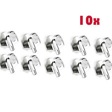 10Pc Base Glass Shelf Clip Clamp Holder Support Bracket  with Pole 8mm-10mm