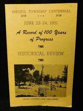 Innisfil Township Centennial 1850-1951 A Record Of 100 Years Of Progress PB Book