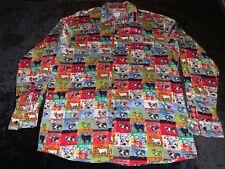 Men's Vtg Rare Moschino Allover Print Cows button shirt Usa
