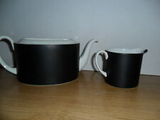 SUSIE COOPER CONTRAST PATTERN (C2068) TEA POT NO TOP  BONE CHINA AND CREAMER
