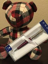 Cross Parasol Chrome and Violet Ball Point Pen  ~Nice Gift For Mom  * Sale *