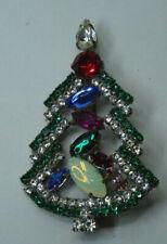 Christbaum Strass Brosche Weihnachtsbaum Christmas tree Brooch Gablonz Nr.63