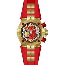 Invicta 30315 Marvel Men's Ironman Gold Red Polyurethane Stainless Steel Watch