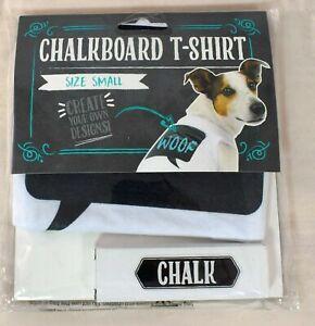 Thought Bubble Chalkboard Dog/Pet T-Shirt w/Chalk (White) Dog  Size Small (S)