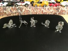 Small Glass / Crystal Animal Figurines: Collection of 5 in Perfect Condition