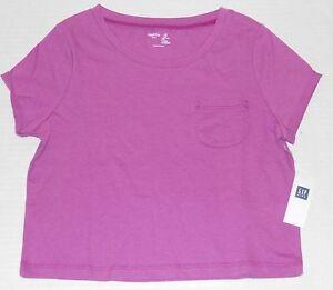 GAP Kids Girl's Lilac Purple Pocket Cropped Tee Shirt Size S (6-7)