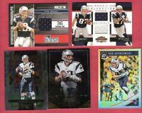 TOM BRADY GAME USED JERSEY +2 Rob Gronkowski ROOKIE JERSEY & PRIZM CARD PATRIOTS