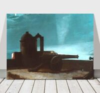 WINSLOW HOMER - Searchlight on Harbour in Cuba- CANVAS ART PRINT POSTER - 24x18""