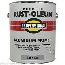 2 Qt Gray RustOleum Stops Rust 250 VOC Flat Latex Aluminum Paint Primer 8781502