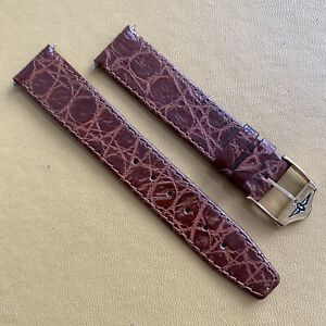 Original Vintage ROTARY Genuine Leather Watch Strap.18mm Strap Ends.  NOS