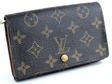 Auth Louis Vuitton Monogram Canvas Leather Bi fold Wallet Purse Hand Bag France