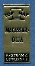 Advertisement Original Seal Label A40 Gold MNH Top Hat Macassar Oil  Sweden