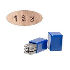 9 Steel Fancy Number Stamp Punch Tools For Metal, Clay, Leather, Jewelry Blanks