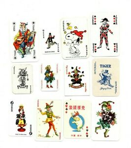 """12 x OLD & NEW """"Miniature"""" JOKER Playing Cards #c"""